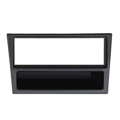 FEELDO Façade d'autoradio CD 1 DIN pour Opel Tigra 2004–2009 Kit d'installation Noir