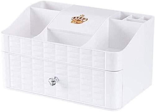CHUNJIAO Kosmetische Organizer, große Kapazitäts-Tabellen Speicher Make Up Organizer Mit Spiegel Schubladen for Dresser, Schlafzimmer, Badezimmer kosmetischen Aufbewahrungsbehälter Kosmetische Aufbewa
