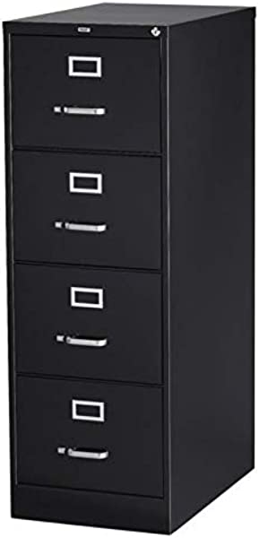 4 Drawer Commercial Legal Size File Cabinet Finish Black