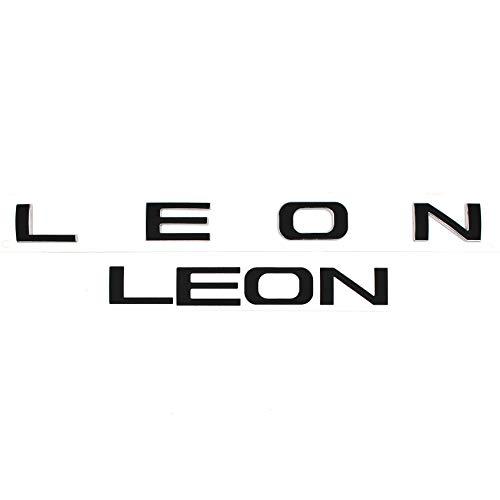 Finest-Folia Leon Schrifzug Folie für Emblem Aufkleber (K105 .Schwarz Matt)