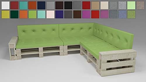 Rollmayer - Auflagen & Polster für Sofas in #Vivid 24 Seladongrün, Größe 7er Set