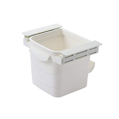Picapoo Cubo de basura oculto retráctil para colgar debajo de la mesa, basura, herramienta de limpieza, contenedor de basura para baño, dormitorio, cocina y oficina