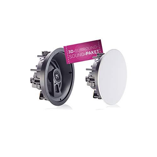 Saxx inSOUND IC 6 Decken -& Wand High End Runde Einbau Lautsprecher | Ø 230mm x 118mm | 40 Watt | Weiß (Stückpreis)