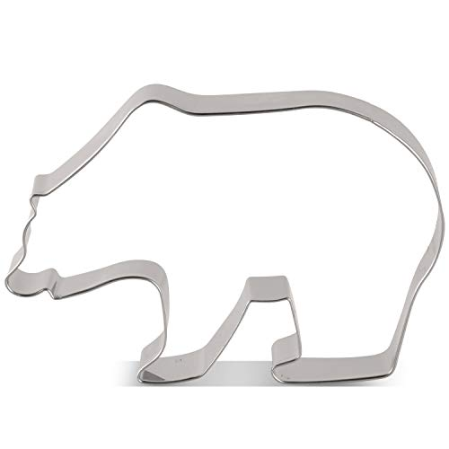 LILIAO Grizzly Bear/Polar Bear Cookie Cutter - 4.7 x 3.1 inches - Woodland Animal Biscuit and Fondant Cutters - Stainless Steel