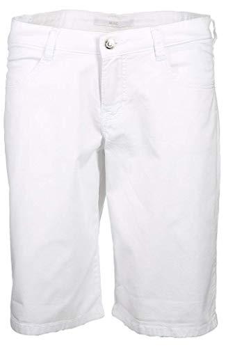 MAC Jeans Damen Shorty Summer clean Shorts, Weiß (White 010), W40(Herstellergröße: 40/07)