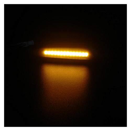 SHENG shengyuan 2 UNIDS LED LED Dinámico Marcador Lateral Lámpara de Giro secuencial Lámpara de señal FIT para BMW E60 E61 E90 E91 E81 E82 E88 E46 X3 X1