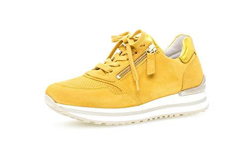 Gabor Damen Halbschuhe, Frauen Sneaker,Komfortable Mehrweite (H),Woman,schnürschuhe,schnürer,Halbschuhe,Plateausohle,Mango (perf.),38 EU / 5 UK