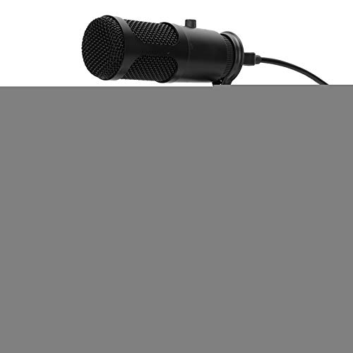 Goshyda Micrófono de Condensador USB Base de Escritorio Ajuste de Volumen de la Perilla del micrófono del Juego sin Unidad Adecuado para Cantar en línea, reuniones remotas,