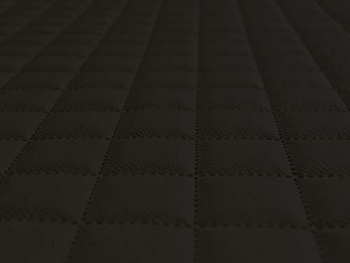 Lederkonzept Kunstleder Polsterstoff Gesteppt Kaschiert Meterware Möbelstoff Dekostoff 11 Schwarz