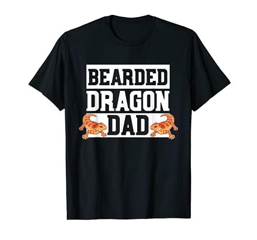 Disfraz de dragón barbudo papá reptil traje de regalo de lagarto barbudo Camiseta