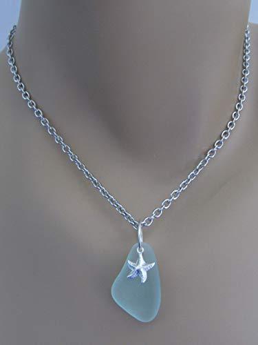Long Seafoam Green Infinity Necklace