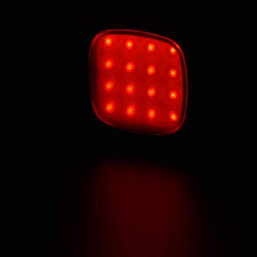 Emoshayoga Bicicleta Luz LED Luz Trasera de Bicicleta para Acampar en el Campo, Salida fácil de Usar y Quitar(Black)