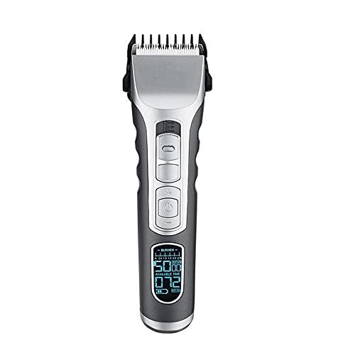 Máquina recortadora de barba, cortapelos, Afeitadora eléctrica adulto carga eléctrica push corte...