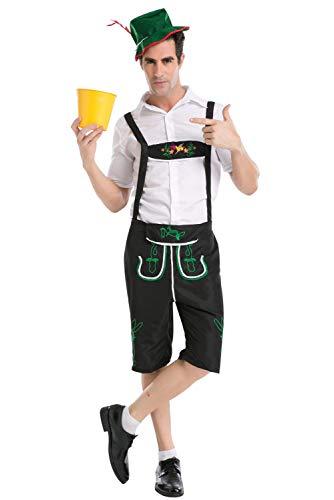 Costume Oktoberfest Homme Garcon Vetement Bavarois Allemand Uniforme Tenue Identique Papa et Fils Set Trois Pieces Ensenble Halloween Cosplay Bière Fête Carnaval Deguisement Paysan Adulte Enfant
