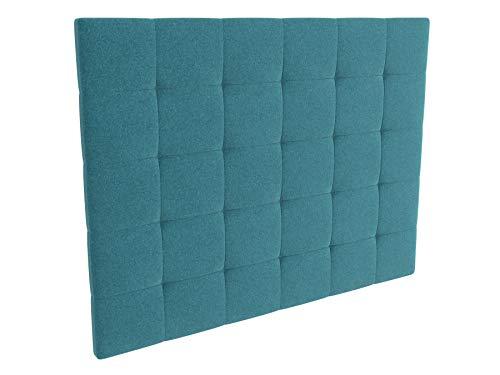 LA WEB DEL COLCHON - Cabecero tapizado Celio para Cama de 80 (90 x 120 cms) Turquesa Textil Suave