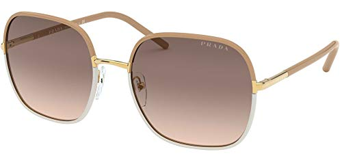 Prada Gafas de Sol PR 67XS Light Brown White/Dark Brown Shaded 58/19/145 mujer
