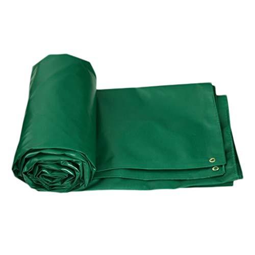 HMLIFE waterdicht canvas aan beide zijden waterdicht doek voor auto, vrachtwagen, dekzeil, waterdicht, tent, tent, tent, tent, tent, tent, tent, tent, tent, tent, tent, tent. 5 * 4M Groen