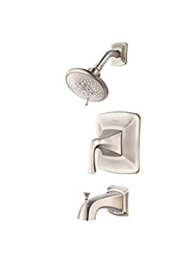 Pfister Selia Brushed Nickel 1-Handle WaterSense Bathtub and Shower Faucet with Multi-Function Showerhead