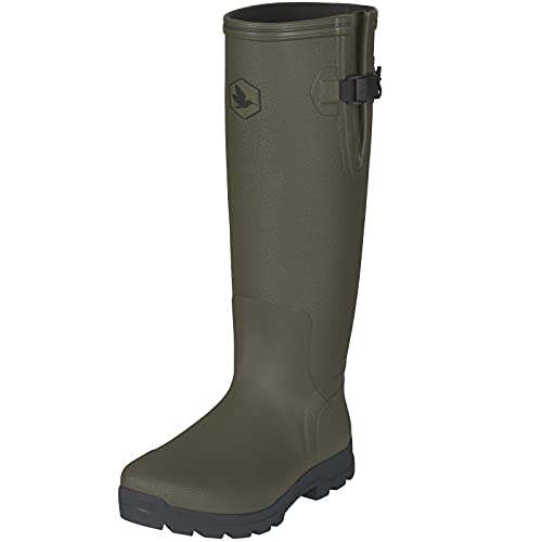 Seeland Botas de goma para cazar y pescadores, con forro de neopreno, impermeables, para caza hasta -15 grados, color Verde, talla 48 EU