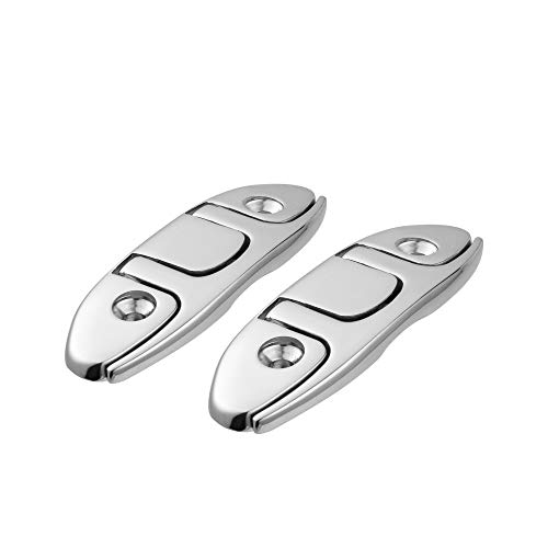 """YUSOVE Boat Folding Cleat 4-1/2"""" 316 Stainless Steel Marine Flip Up Dock Cleat,Pack of 2"""
