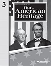 A Beka Book Our American Heritage Quizzes and Tests Key Grade 3, Fourth Edition