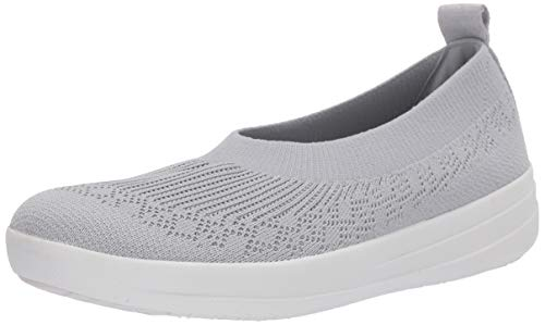 FitFlop womens Ballet Flat, Pearl, 8.5 US