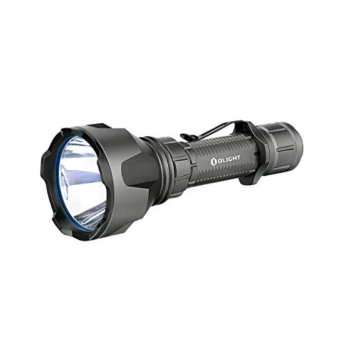 Olight Warrior X Turbo 1000 Meters Super-long Throw Distance 1100 Lumens Tactical LED Flashlight, 5000mAh 21700 Rechargeable Battery and Magnetic USB Charging Cable (Gunmetal Grey)