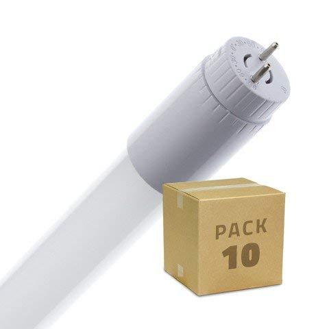 PACK Tubo LED T8 Vetro 600mm Connessione Unilaterale 9W (10 un) Bianco Naturale 3800K-4200K LEDKIA