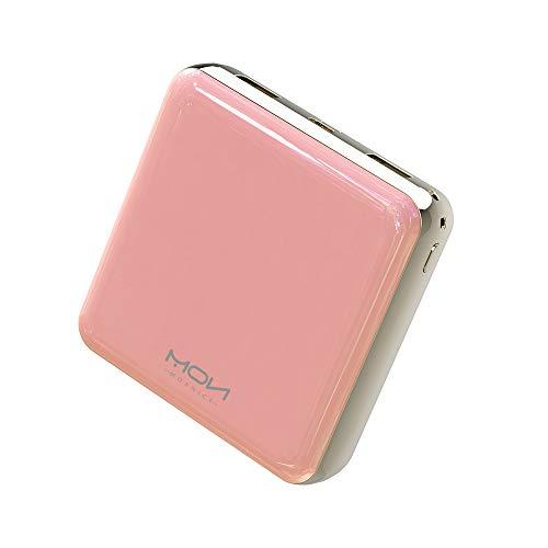 MOXNICE Batterie Externe Power Bank 20000mAh Puissance Mobile, Compact Powerbank avec 2 USB Sortie pour Smartphones et Tablettes (Rose)