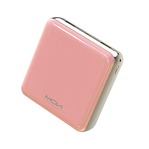 MOXNICE Power Bank 20000mAh Portable Charger, Ultra-Compact Battery Pack with 2 Outputs for iPhone, iPad, Samsung, LG and More (Pink)