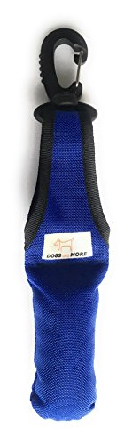DOGS and MORE - Bringsel mit leichtem Wirbelkarabiner in Blau (Verweiser-Dummy)