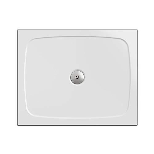 Piatto doccia, rettangolare 80 x 100 cm | Nordona® SIMPLEX | altezza di costruzione super sottile di 5,5 cm | costruzione stabile, di alta qualità