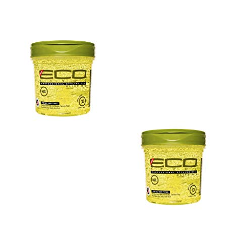 ECOCO Styler Professional Styling Gel, Olive Oil, Max Hold 10, 16 Oz, Large (I811A)