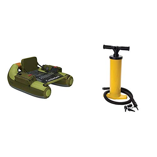 Classic Accessories Cumberland Inflatable Fishing Float with Inflatable Boat/Tube Hand Pump
