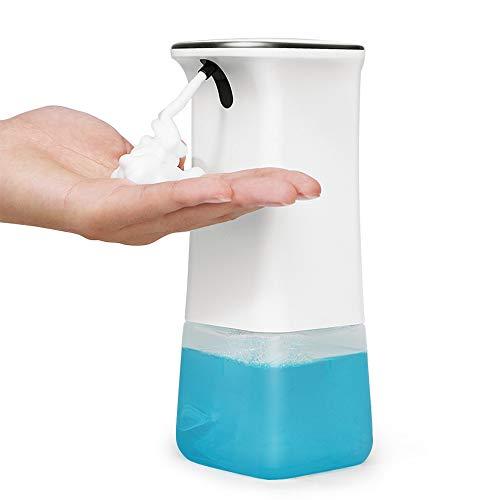 Cesun Seifenspender Automatisch Wandbefestigung Mit Sensor, No Touch Schaumseifenspender Elektrisch, Klarer Seifenbehälter, Einstellbarer Lautstärkeregler (cFoam 350ml)