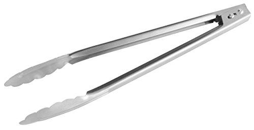 Fackelmann Mehrzweckzange 30 cm, Servierzange aus Edelstahl, Küchen- und Grillzange (Farbe: Silber), Menge: 1 Stück