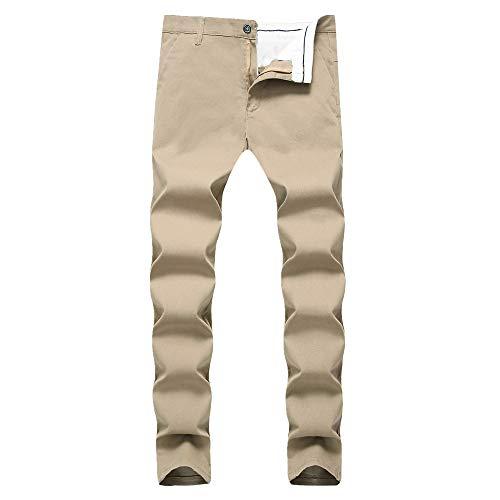 N\P Pantalones casuales para hombre Slim Fit Hombres Bullet Pequeños Rectos