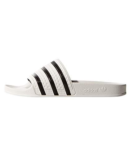 Adidas Adilette, Chanclas Unisex adulto, Blanco (White/Black/White), 48.5
