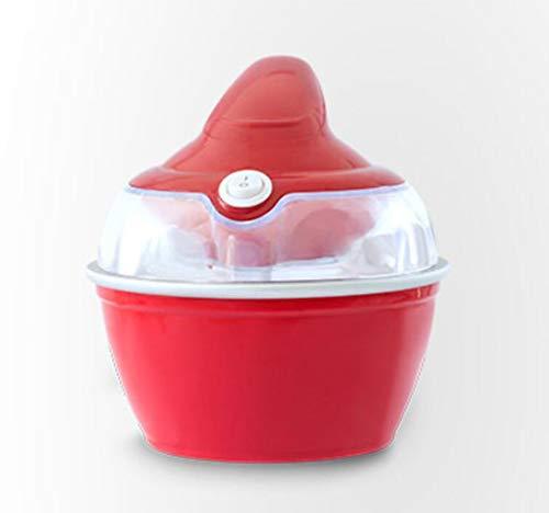 Küche zu Hause Eis Maschine, Obst Kinder automatischen Fest Eis-Maschine, hausgemachtes Eis, Obst-Eis-Maschine, elektrische Eismaschine, 10W Energiespar, spezielle elektrische Geräte ( Color : Red )