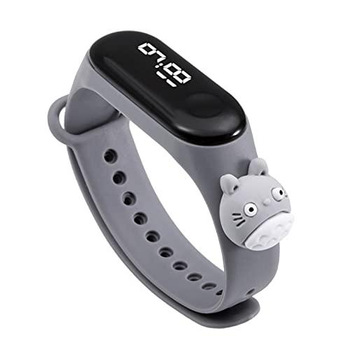 Sonal Enterprise New LED Digital Sport Wristband Fashion Cartoon Silicone Kids Watch | Kids Watch with Cartoon Strap (Grey)