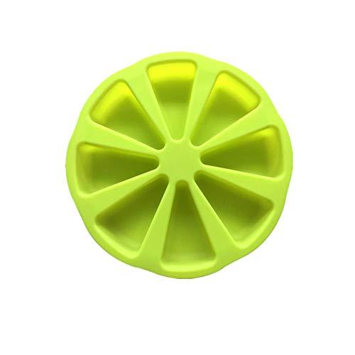 Yisily Backform Silikon-Form Kreative Orange Form 8-Loch-Design Pizza-Platte DIY Kuchen Werkzeugbau Handgemachte Bakeware Für Küche Grün