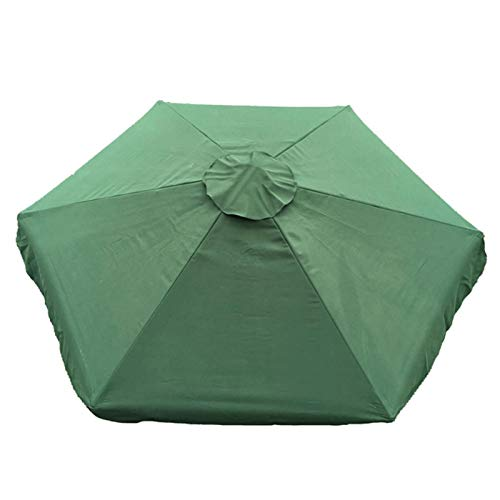 DELITLS Parasol impermeable y duradero para sombrilla de repuesto (verde, tamaño: 79.8 pulgadas)