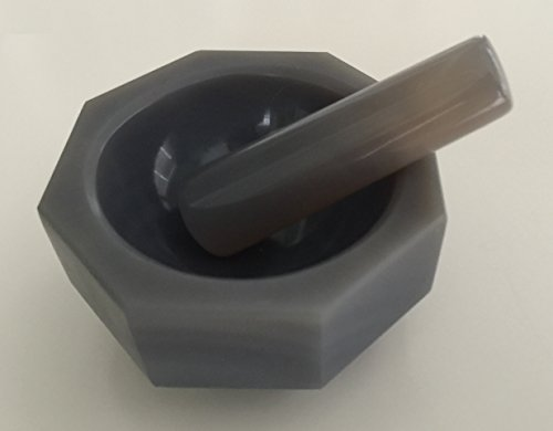 Agate Mortar and Pestle Standard Form, 75x62x15mm labware