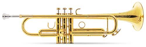 Lechgold TR-16R Bb-Trompete - aus Messing - Mundrohr aus Phosphorbronze - Edelstahl-Ventile - inkl. Leichtkoffer - unbehandelt