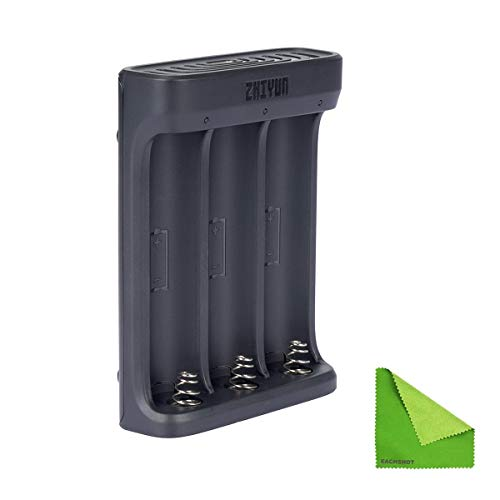 ZHIYUN 18650 Battery Charger for Zhiyun Crane 3S 3 LAB, Weebill LAB, Crane 2S 2,Weebill S and Weebill LAB, 3.7V Li-ion Rechargeable Battery 3 Slot USB Charger