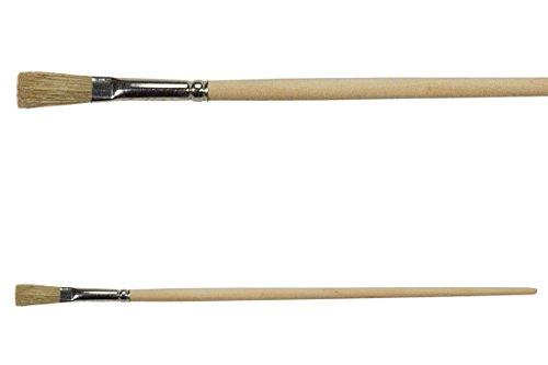 12 Strichzieher Gr. 8 flache Zwinge Chinaborste Lackpinsel Künstler Maler Pinsel Strich für lösemittelhaltige und wasserverdünnbare Anstriche
