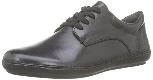 Kickers Fowfo, Zapatos Cordones Derby Mujer, Negro