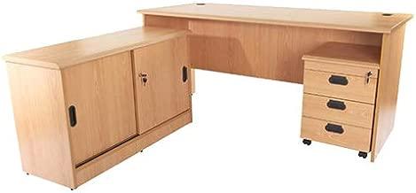 Mahmayi Bess Office Desk Cabinet, Belgian Beech, 75 x 160 x 74cm, 77.08895064.18