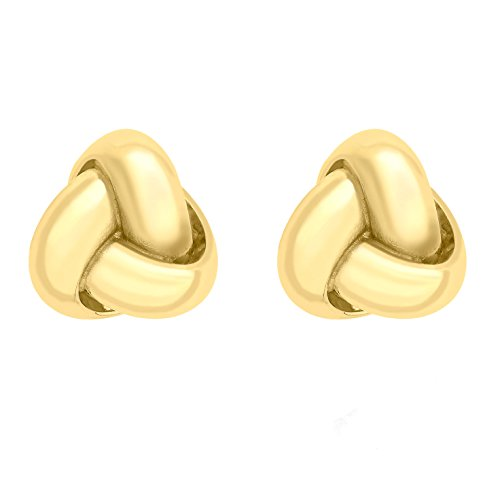 Carissima Gold Women's 9 ct Yellow Gold 7 mm Triple Knot Stud Earrings
