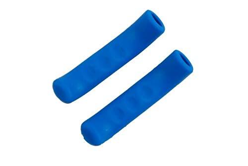 NUOYIYI 1 par para manija de Freno de Bicicleta Cubierta de Silicona Funda Protectora de Palanca de Freno de Bicicleta Cubiertas de protección del Cuerpo de Bicicleta-Azul Marino 1 par
